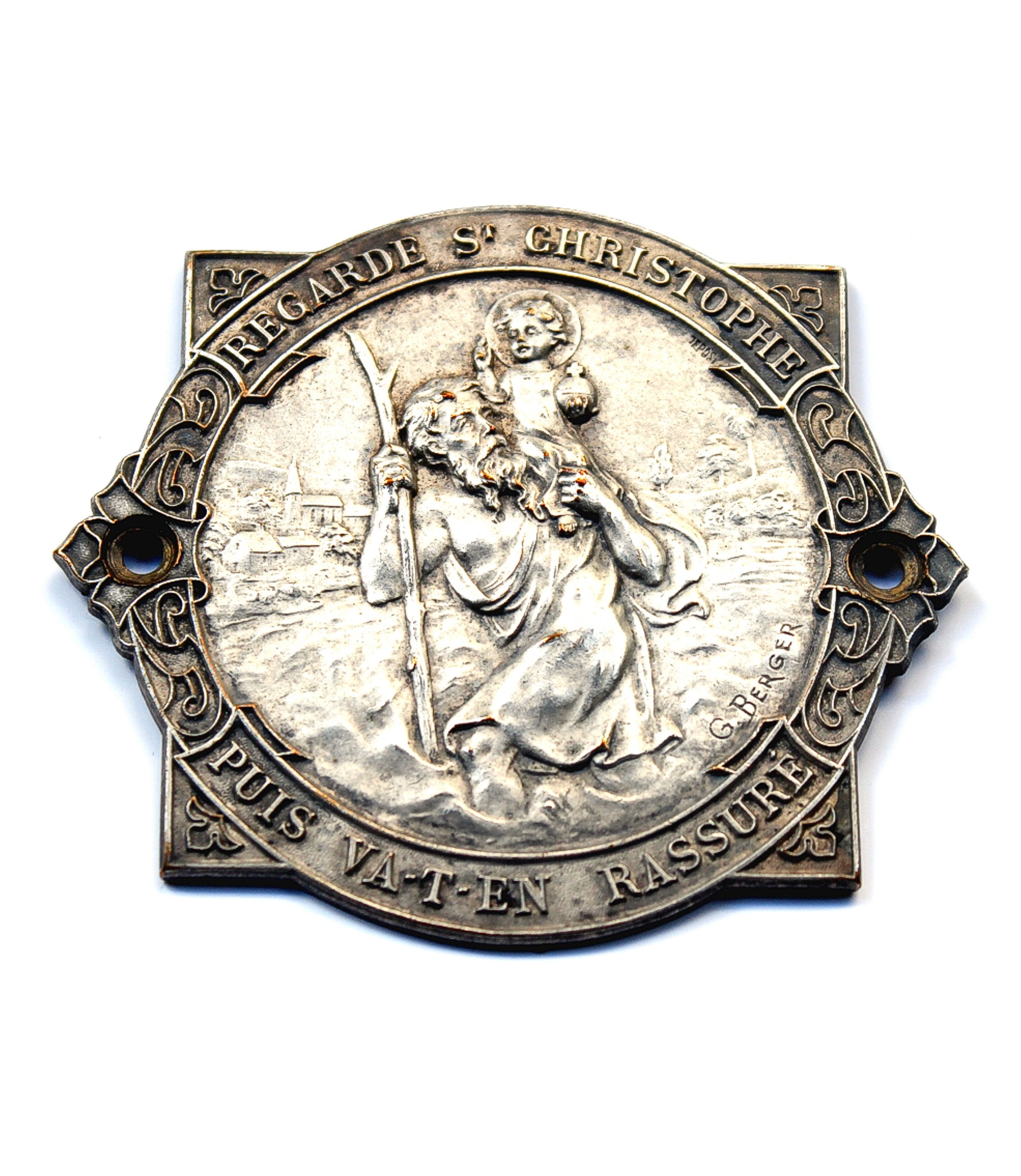 Saint Christopher dashboard badge by Berger
