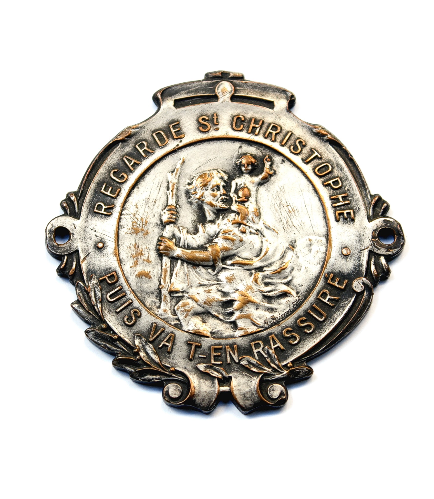 Saint Christopher dashboard badge by Briand