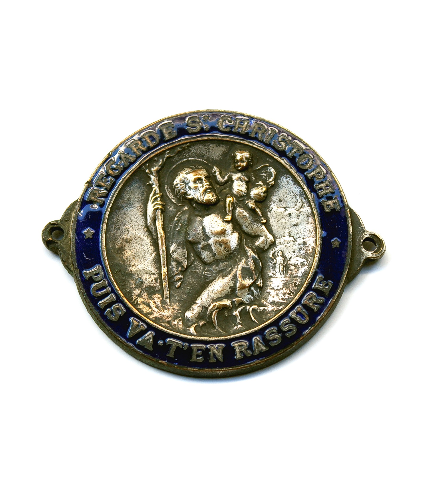 St.Christopher enamel dashboard badge by E.Dropsy