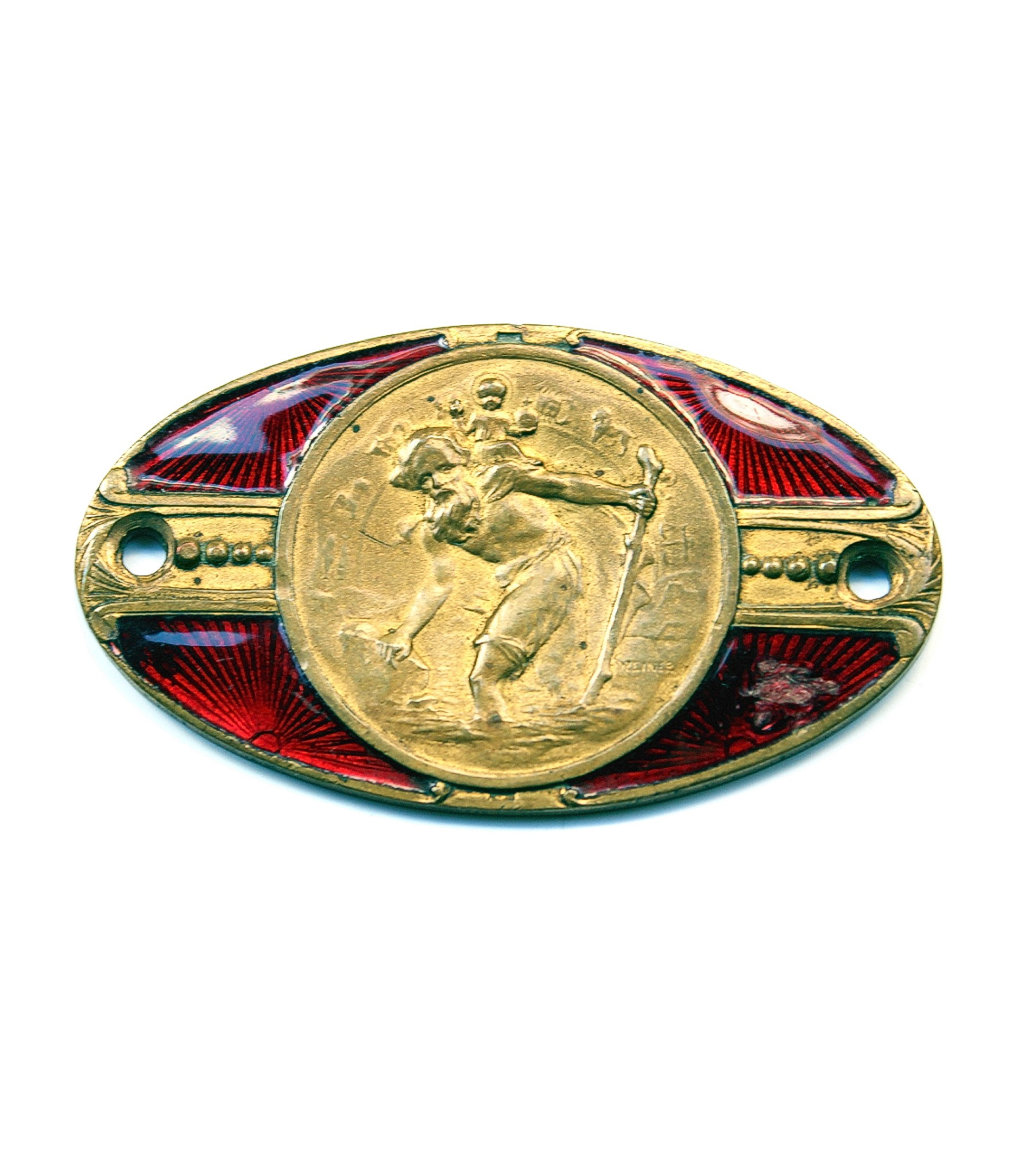 Steiner St.Christopher dashboard badge