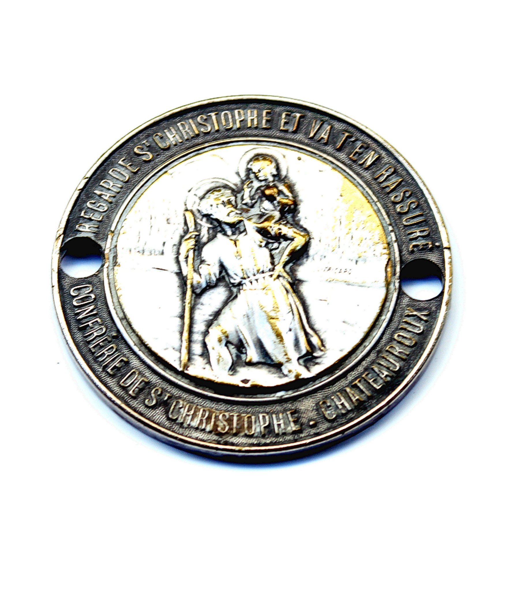 Brotherhood of St.Christopher dashboard badge by L.Tricard