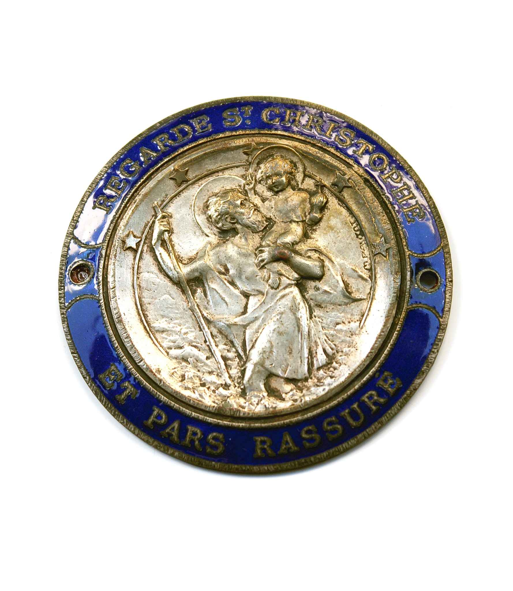 Enameled St.Christopher badge by Pautot