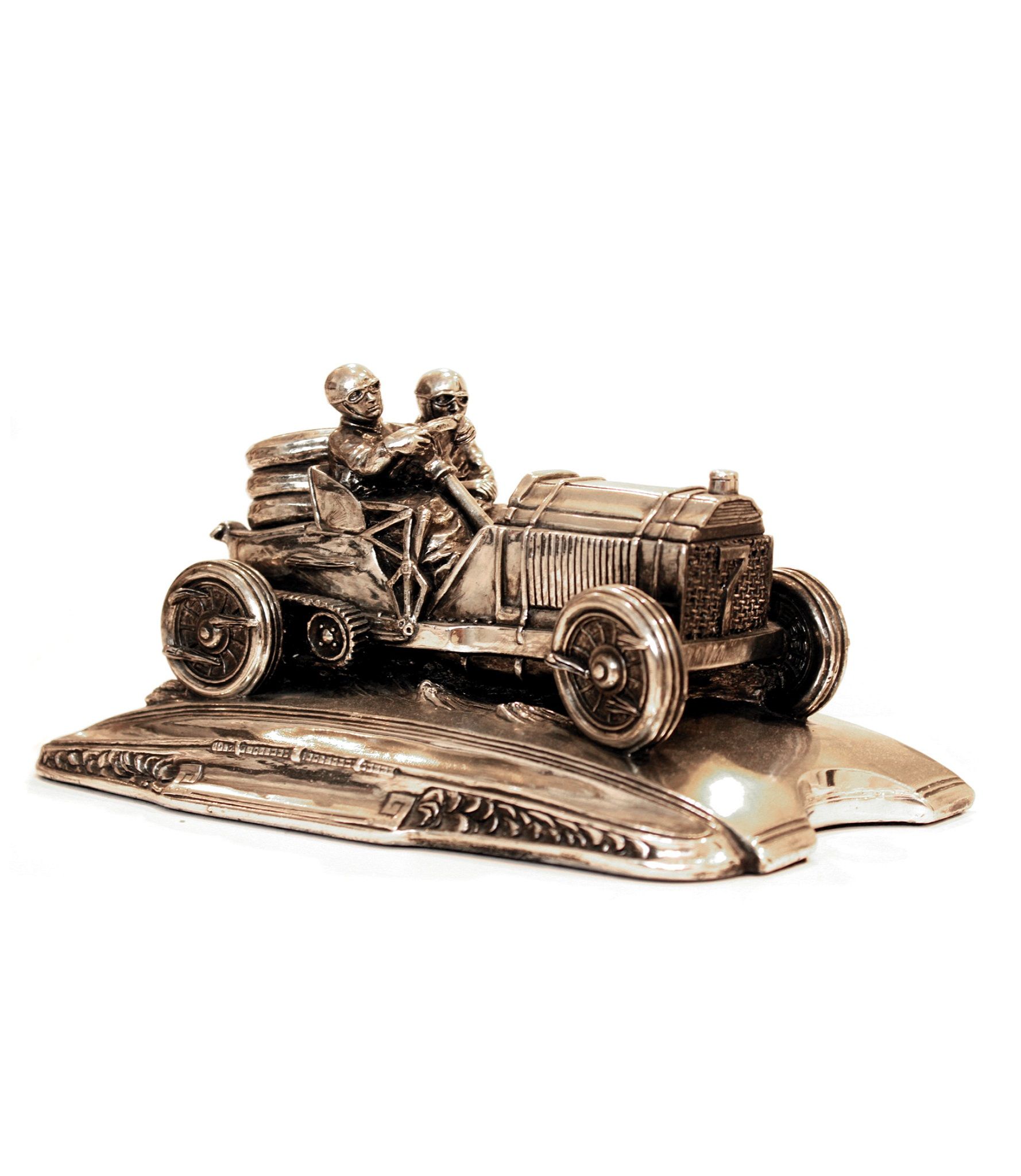 Vintage Racing Car Pencil Holder